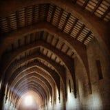 Dormitorio del monasterio de Poblet's fotos de archivo
