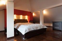 Dormitorio doble Imagen de archivo libre de regalías