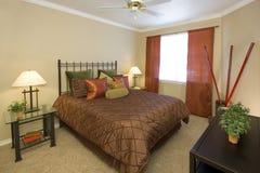 Dormitorio efectuado Fotografía de archivo libre de regalías