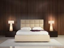 Dormitorio elegante de lujo imágenes de archivo libres de regalías