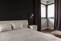Dormitorio elegante de lujo Foto de archivo
