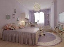 Dormitorio en el estilo de Provence Foto de archivo libre de regalías