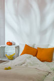 Dormitorio en estilo moderno del eco Fotografía de archivo