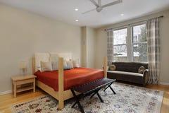 Dormitorio en hogar de lujo Fotos de archivo libres de regalías