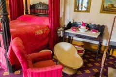 Dormitorio en la casa victoriana de Charlecote Foto de archivo