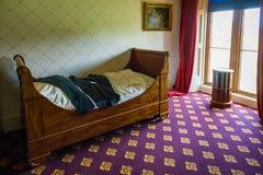 Dormitorio en la casa victoriana de Charlecote Fotografía de archivo