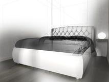 Dormitorio en un interior moderno en colores brillantes representación de 3 d ilustración del vector