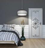 Dormitorio gris Fotos de archivo libres de regalías