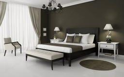 Dormitorio interior moderno ilustración del vector