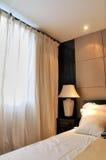 Dormitorio ligero y suave del color Fotografía de archivo