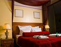 Dormitorio lujoso imagenes de archivo