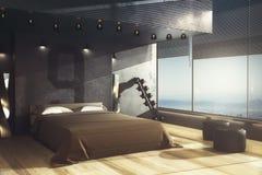 Dormitorio masculino, concepto cómodo Fotografía de archivo