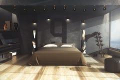 Dormitorio masculino, concepto casero Fotografía de archivo libre de regalías