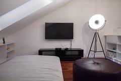 Dormitorio moderno para un adolescente Imágenes de archivo libres de regalías