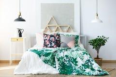 Dormitorio natural con muebles delicados Imagen de archivo
