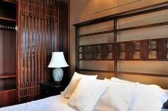 Dormitorio oriental del estilo Imágenes de archivo libres de regalías