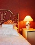 Dormitorio romántico fotografía de archivo