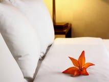 Dormitorio, situación romántica Fotos de archivo