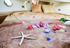 Dormitorio temático de la playa Fotografía de archivo