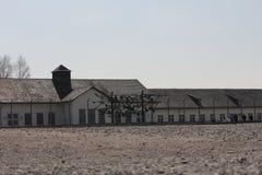 Dormitorios del campo de concentración de Dachau, preservados como recordatorio horrible de la brutalidad nazi fotos de archivo