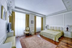 Dormitorios del diseño interior fotografía de archivo