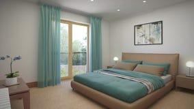 Dormitorios del diseño interior en una casa de campo almacen de metraje de vídeo