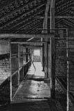 Dormitorios en Auschwitz-Birkenau fotos de archivo libres de regalías