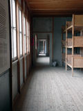Dormitory. Inside the concentration Camp of Dachau Stock Photo