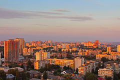 Dormitory area of Kyiv city on the beautiful sunset Royalty Free Stock Photography
