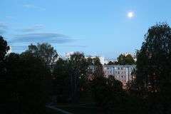 Dormitory area. At the late summer evening Stock Photography