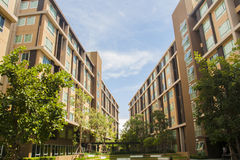 Dormitory building perspective Stock Image