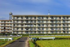 Dormitory in the countryside of Japan Stock Photo