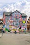 Dormitory of students is in city Tuebingen Stock Images