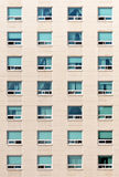 Dormitory wall with windows Stock Images