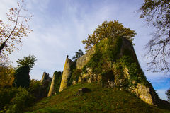 Dorneck Castle is a castle in the municipality of Dornach Stock Photo