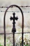 Dornen und das Kreuz - Tod und Leben Stockbilder