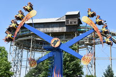Dorney Park in Allentown, Pennsylvania. It features some of the world`s most prominent roller coasters Stock Photo