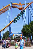 Dorney Park in Allentown, Pennsylvania. It features some of the world`s most prominent roller coasters stock photography