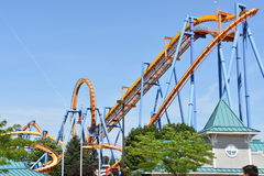 Dorney Park in Allentown, Pennsylvania. It features some of the world`s most prominent roller coasters stock image