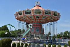 Dorney Park in Allentown, Pennsylvania. It features some of the world`s most prominent roller coasters Royalty Free Stock Photography