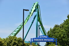 Dorney Park in Allentown, Pennsylvania. It features some of the world`s most prominent roller coasters Stock Images