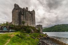 Main house and tower of Eilean Donan Castle, Scotland. Royalty Free Stock Image