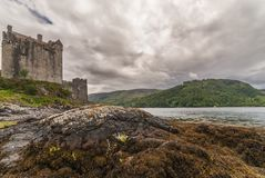 Main house and tower of Eilean Donan Castle, Scotland. Royalty Free Stock Photos
