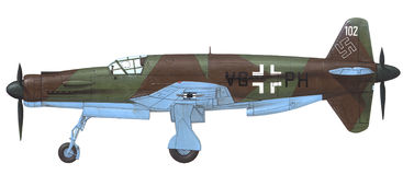 Dornier -335 Pfeil vector illustratie