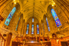 Dornoch Cathedral. Interior of Dornoch Cathedral, Medieval church, Dornoch in the Scottish Highlands in the UK Stock Photos