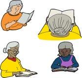 Dorośleć ludzi Czytać royalty ilustracja