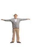 Dorośleć mężczyzna z jego rękami rozprzestrzeniać Obraz Stock