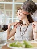 Dorośleć pary ma lunch. Zdjęcia Royalty Free