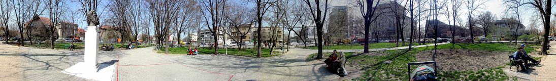 Dorobanti Square, 360 degrees panorama Royalty Free Stock Images