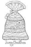Dorosła kolorystyki książka, wzywa śliczną torbę z literowaniem dla relaksować Zen sztuki stylu ilustracja Zdjęcia Royalty Free